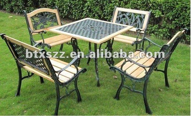 mesa de jardim ferro:Decorativo bonito jardim mesa de ferro fundido e cadeiras-Cadeiras de
