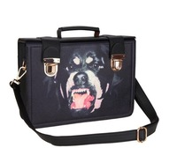 free shipping nugget angry dogs logo Buckle Shoulder bag notu854