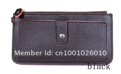 Free shipping,2012 fashion pu leather Wallet Pockets rfid Card Clutch fashionable Purse  handbags cardbags7 colors