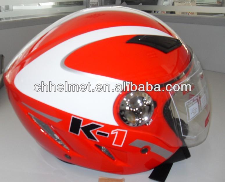 Motorcycle open half face helmet