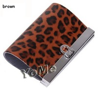 Ключница 2012 Hotsale GENUINE LEATHER pink leopard key wallet/purse/holde, gifts, KP003