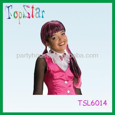 2013 hotsale synthetic long halloween wig for kids