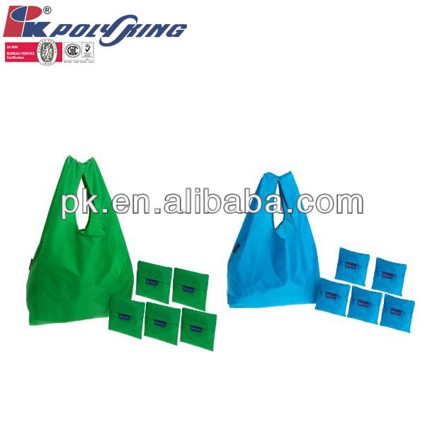 Cheap assortment colors vest carrier tote shopping bag foldable(PK-0560S)