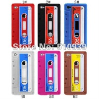 Чехол для для мобильных телефонов s! 3pcs/lot! Cassette Tape Silicone Case Cover for Apple iPhone 4 4G