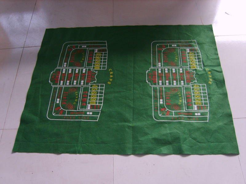 Roulette layout table cloth black jack single zero