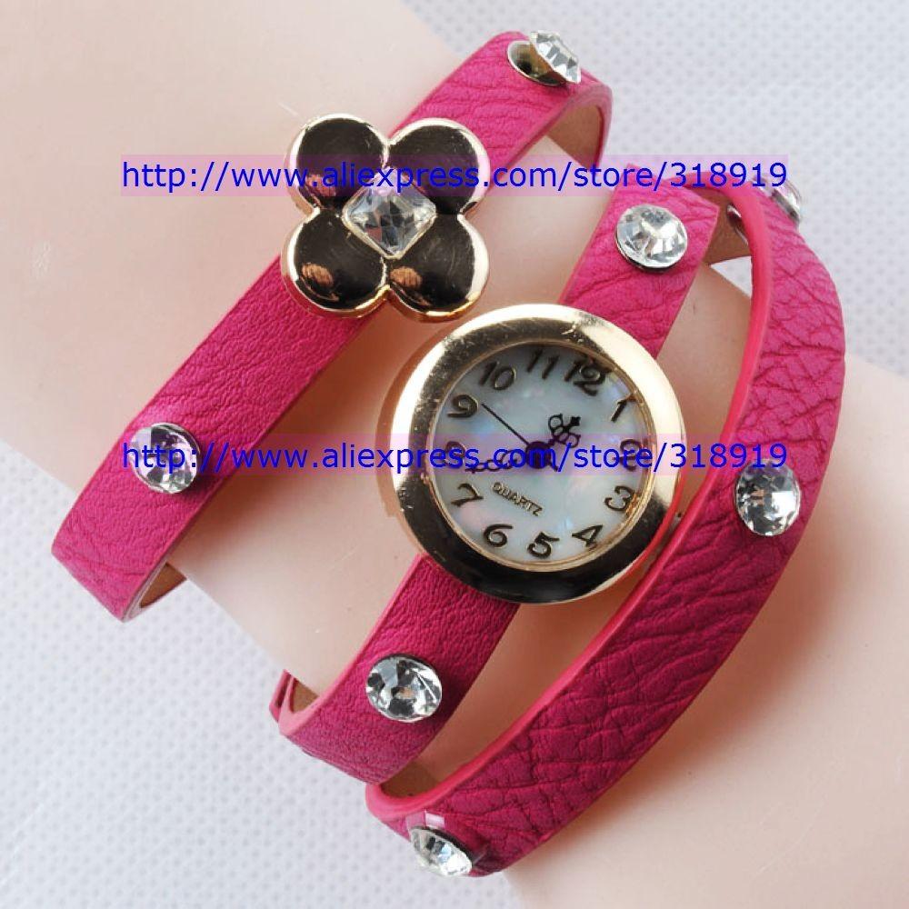 Наручные часы 100pcs/lot discount fashion retro watch women ladies bracelet quartz Vintage diamond crystal with star flower styles