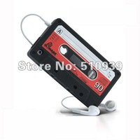 Wholesales!!3pcs/lot freeshipping!Cassette Tape Silicone Case Cover for Apple iPhone 4 4G