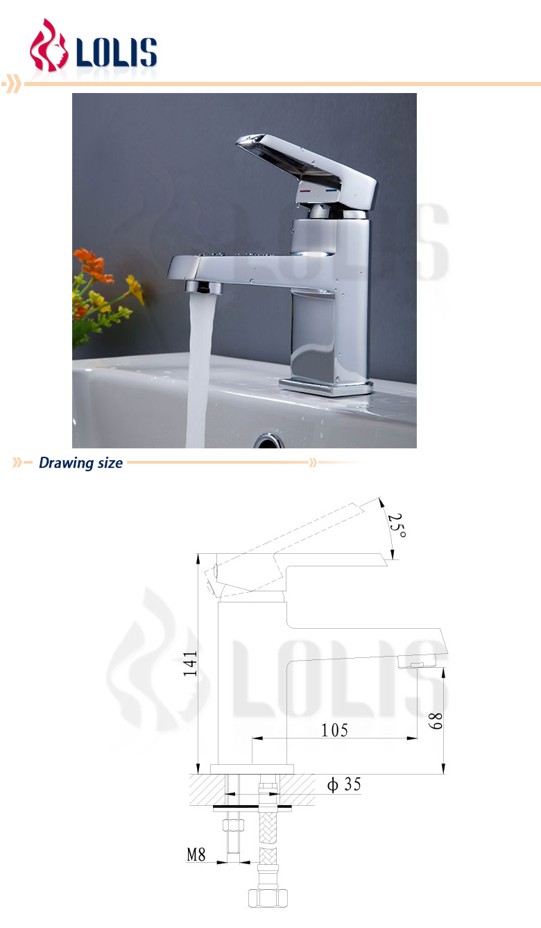 2014 Hot Sale Fashion Designed Basin Faucets (B0048-F)