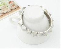 Min. order is $10(mix)  96 vintage pyramid rivet spike bracelet fashion women bracelet wholesale
