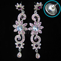 Wedding Bridal Bridesmaid Party Earring Necklace Jewelry Set Rhinestone WA104-4#