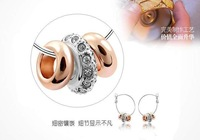 Ювелирный набор Holiday sale BKS079 18k gold plated 3 rings design necklace earrings jewelry set fashion crystal jewelry