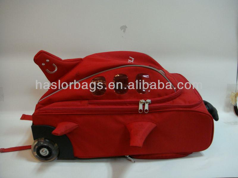 Rouge couleur petites filles sac d'école sur roues
