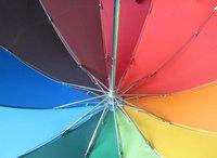 Зонт 12 Color Strong Ribs Rainbow Sun Rain Umbrella