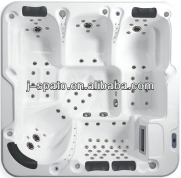 Hangzhou J-spato pure acrylic 6 persons square garden chinese spa