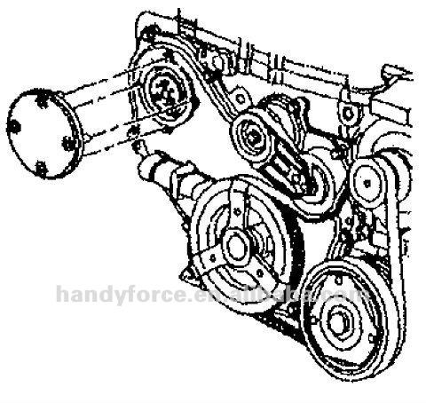 92 Jeep Cherokee Sport 02 Sensor Location moreover Subaru Water Pump furthermore Isuzu Rodeo Thermostat Location besides 1993 Pontiac Grand Am Fuel Pump Location further Engine Coolant Air Bleeder Valve. on grand am water pump replacement