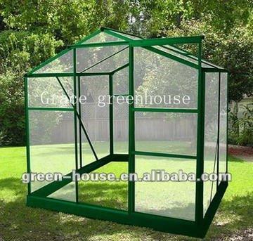 88G Grace top quality aluminium easy grow Green House cold frame glass house sun house GARDEN HOUSE walk in greenhouse