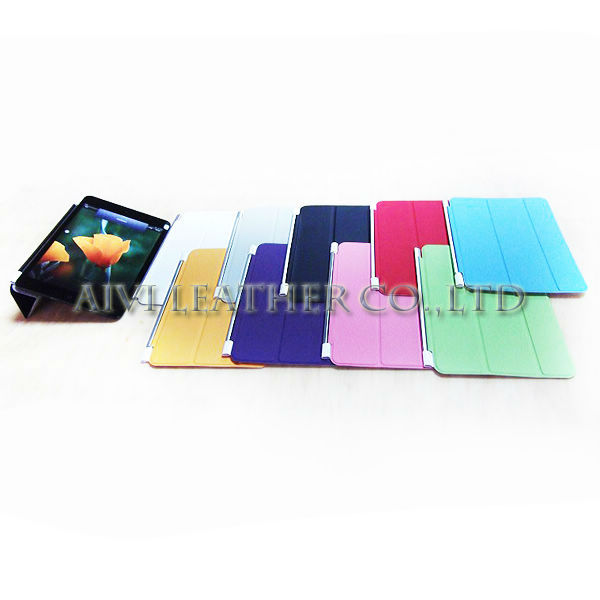 color folders stand leather case for ipad mini,for ipad accessories