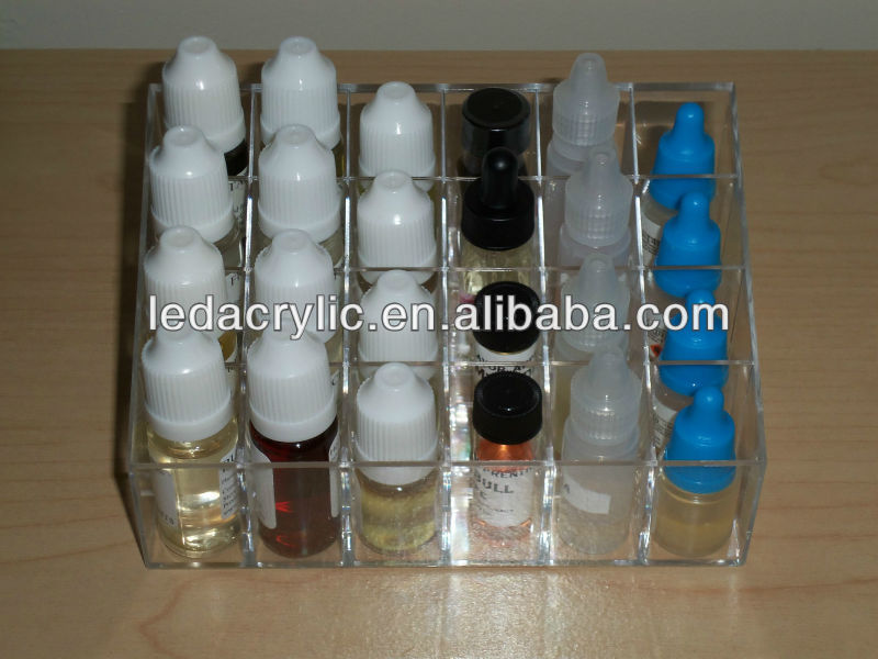 ACRYLIC E-LIQUID BOTTLES DISPLAY STAND PERSPEX EJUICE RETAIL HOLDER