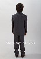 Boys Black with White Pinstripe Wedding suit superior superfine polyester blend Boy wedding suits