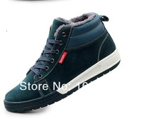 Мужские кроссовки New Sneakers Winter Men's Sneakers Warm Winter Shoes for Men with Fur Lining Genuine Leather Suede Lace Shoes