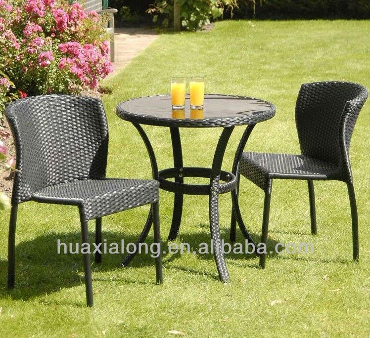 mobiliario de jardim em rattan sintetico:Bistro Rattan Set / cadeiras / móveis de vime-Conjuntos de jardim