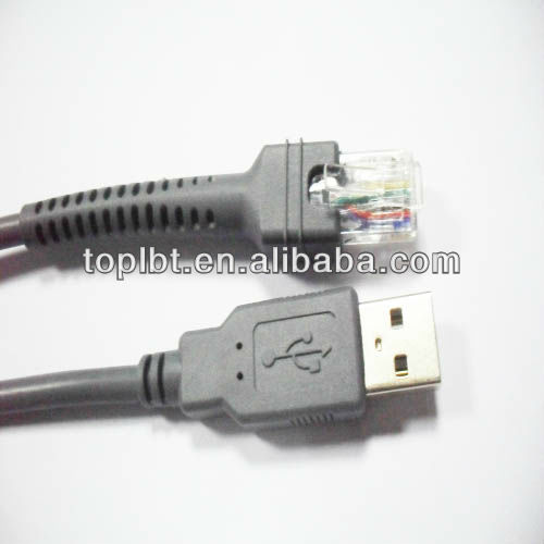 Usb To Rj45 For Symbol Barcode Scanner Cable Ls1203 Ls2208ap Ls4008i