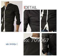 Мужская классическая рубашка Rock walking ,  Slim Fit : , : m/l/xl men shirt