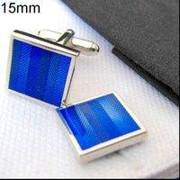 Запонки и зажимы для галстука BLUE Square cufflinks, Men's Cuff links. 1415