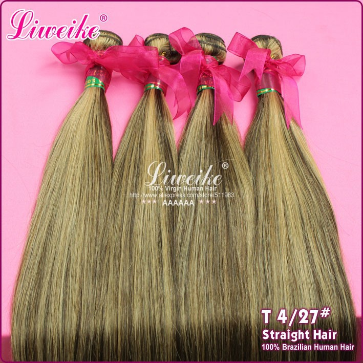 Brazilian hair Piano color hair extension, 1pc no tangle no shedding, shipping free