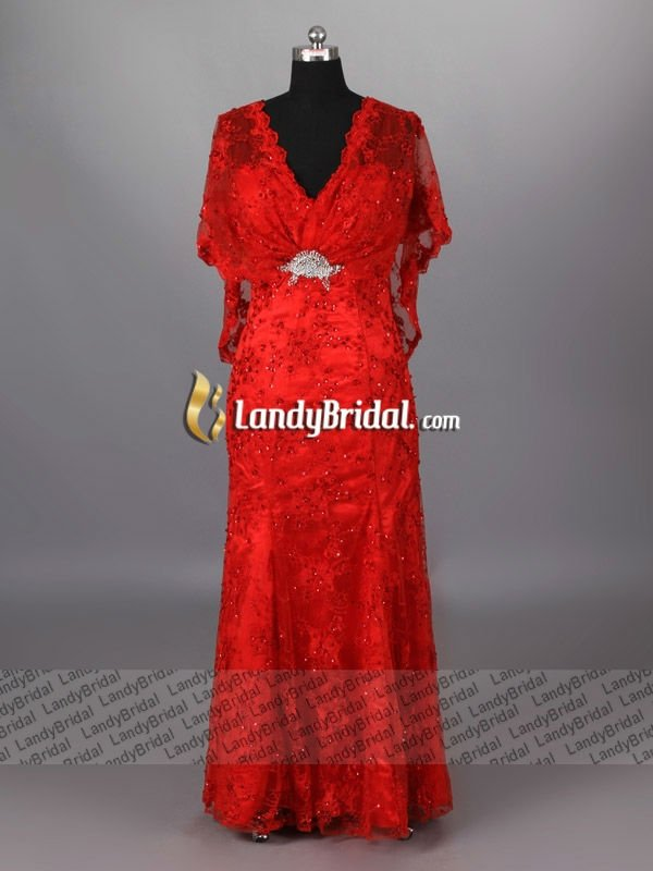 Landybridal Own Designed Luxurious Red Wedding DressLB0999