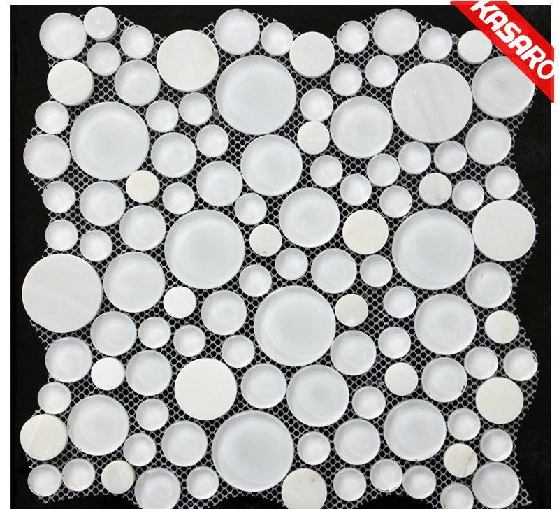 Dusche Mosaik Rund : Round Bubbles Glass Mosaic Tile