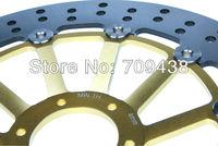 Тормозные диски для мотоцикла 2 X Front Round Brake Disc Rotor For HONDA CB600 F CB 600 F HORNET 599 600CC 2000 2001 2002 2003 2004 2005 2006 00-06 GOLD