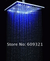 10 INCH Square BRASS LED rain shower 12 LED LIGHT, LED shower head.temperature control shower head.>DHL FREE