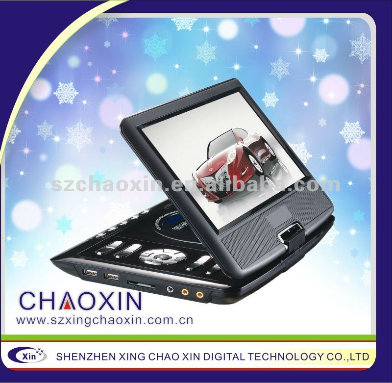 9 inch portable DVD with TV tuner and game player support 3D