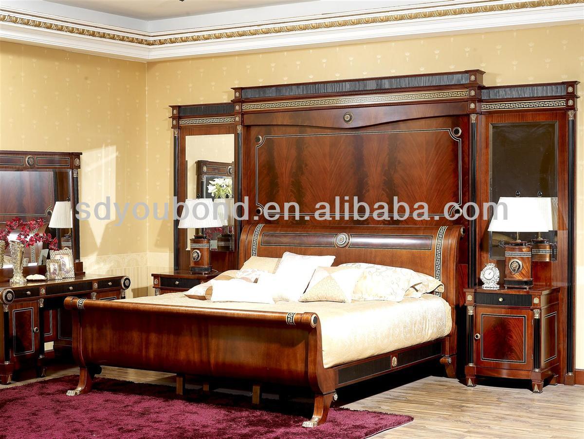 end spanish new design bintangor wood classic royal bedroom furniture