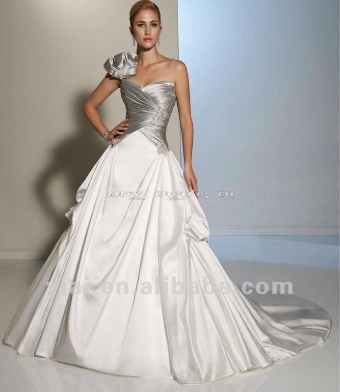 Two Tone Wedding Dresses