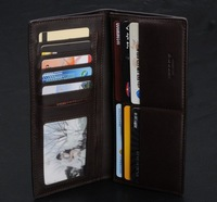 Free shipping/Brand Genuine Leather Wallet for men+designer Coffee Real Leather bifold purse + credit card holder H035-3