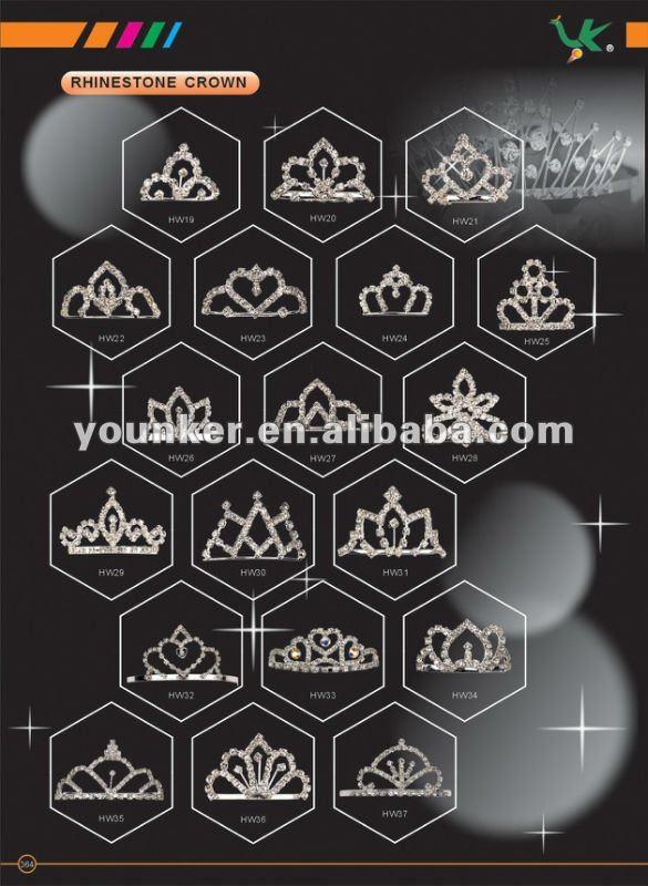 2012 Fashion Beauty Crown Whith Rhinestone For Wedding,Tiara,Rhinestone Crown