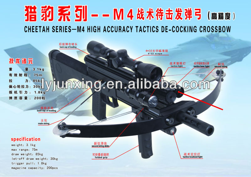 High precision-M4 tactics de-cocking crossbow