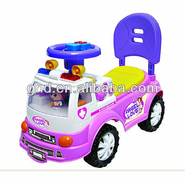 RIDE ON CAR CHILD SLIDING CAR BABY WALKER CAR AMBULANCE
