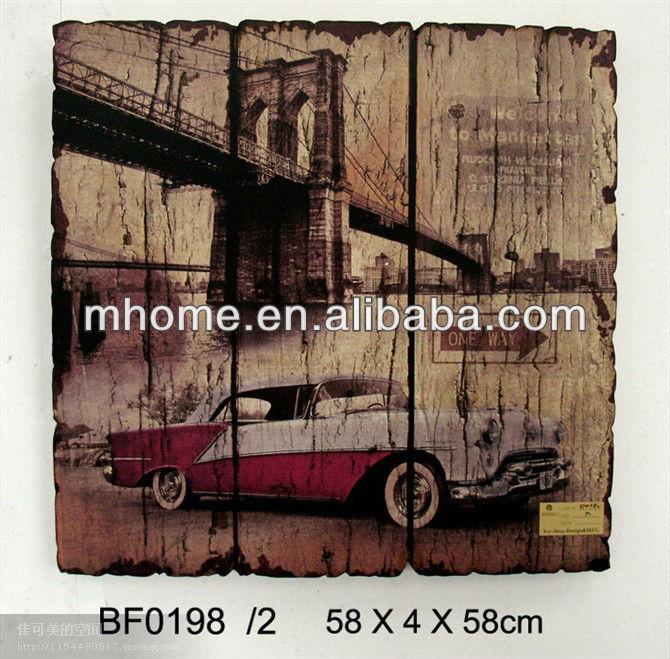 Placas de pared decorativos antiguos de madera mdf para living ...