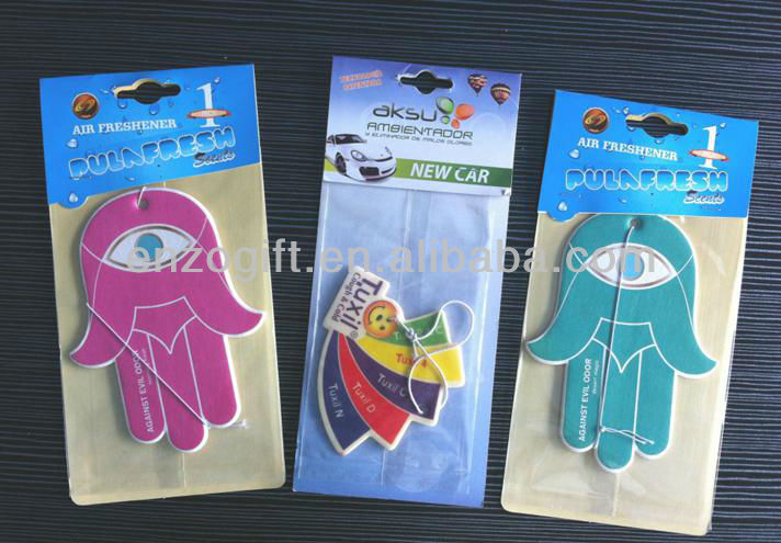 flower scented car fresheners, scented paper card, advertising car paper freshener card
