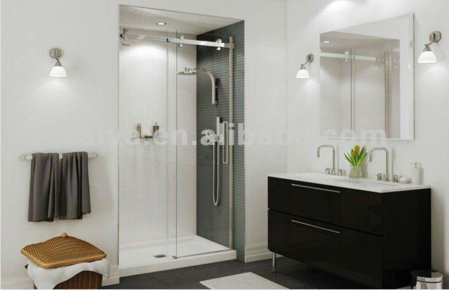 nuevo vidrio sin marco puerta corredera de ducha bao puerta corredera serie