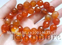 Бусины 12mm orange Agate Faceted Nugget beads 15.5