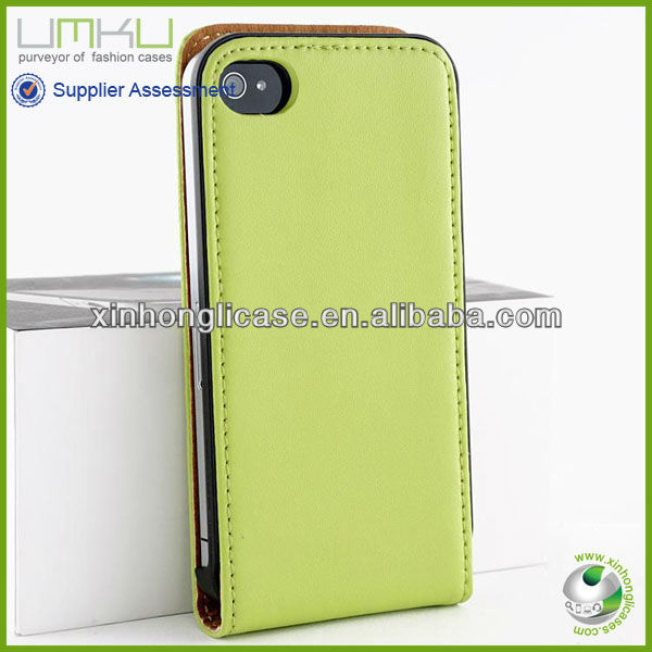 Luxury Flip Leather Phone Case for iPhone 4,Flip PU Phone Covers for iPhone 4/4s