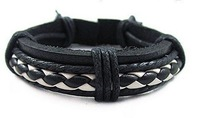 Кожаный браслет G0045 leather bracelets & bangles, high quality, cool leather bracelet men, Casual Style, fashion men's jewelry, factory price