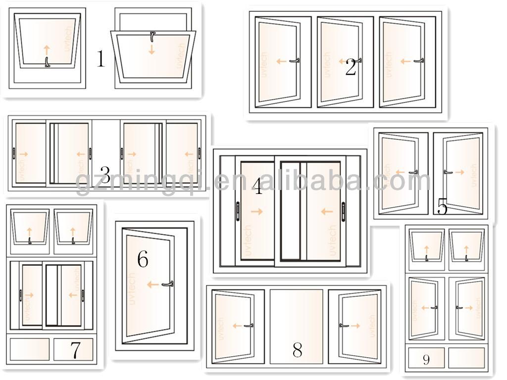 ... window drawing,aluminum door and window frame,pictures aluminum window