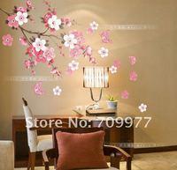 Стикеры для стен 45*60CM Pink Flowers Removable wall Vinyl stickers Decal Art DIY Wall Fridge Sticker