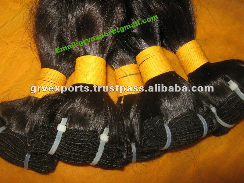 Preço de atacado de Alta qualidade extensões de cabelo ondulado indiano diretamente da índia