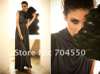 Free shipping!Wholesale/Retail!Charming 2012 Sexy Evening Long Dress/Black Party dress